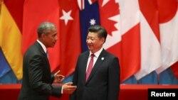 Chủ tịch Trung Quốc Tập Cận Bình và Tổng thống Mỹ Barack Obama dự Hội nghị Thượng đỉnh G-20 ở Hàng Châu, tỉnh Chiết Giang, Trung Quốc, ngày 4 tháng 9, 2016.