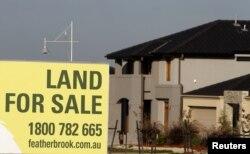 Một biển quảng cáo bán đất ở ngoại ô Melbourne