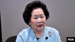 资料照:香港前政务司司长、香港民主运动主要推手之一陈方安生。(美国之音汤惠芸)