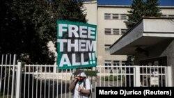 Protest ispred Centralnog zatvora u Beogradu