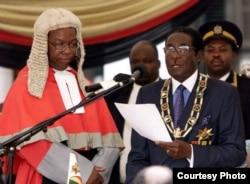 FILE: President Robert Mugabe's inauguration