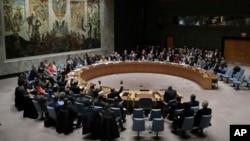 نشست شورای امنیت سازمان ملل متحد برای رأی گیری بر سر قطعنامه های پیشنهادی آمریکا و روسیه در مورد سوریه