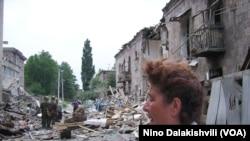დაბომბილი გორი, 2008 წლის 9 აგვისტო. გაფრთხილება: ფოტოგალერეა შეიცავს გრაფიკულ გამოსახულებებს