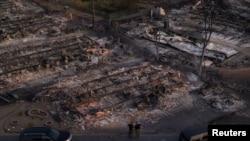 Snimak dronom štete pričinjene u požaru u dijelovima Oregona