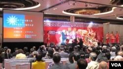 香港台湾社团庆祝双十节(美国之音记者 黎堡拍摄)