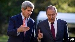 Государственноый секретарь США Джон Керри и министр иностранных дел РФ Сергей Лавров
