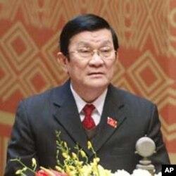 ທານ Truong Tan Sang ປະທານປະເທດຄົນໃໝຂອງວຽດນາມ (REUTERS/Kham)