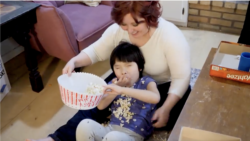 """A scene from the award-winning TV story: """"From China with Love: An Adoption Story."""""""