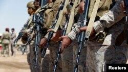Soldats saoudiens à Marib au Yémen, 26 janvier 2018.