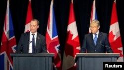 Կանադայի արտաքին գործերի նախարար Ֆրանսուա-Ֆիլիպ Շամպայն և Մեծ Բրիտանիայի արտաքին գործերի նախարար Դոմինիկ Ռաաբ