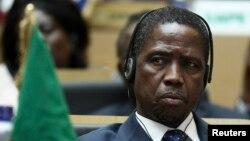 Le président zambien, Edgar Lungu