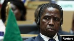Shugaban Zambia na yanzu Edgar Lungu