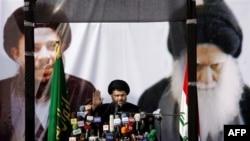 Moktada al-Sadr drži govor po povratku u Irak