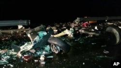 23일 한국 원주시 부론면 정산리 일명 '자작고개' 인근 531번 지방도로에 미군 아파치 헬기 1대가 추락해 조종사 등 2명이 사망했다.