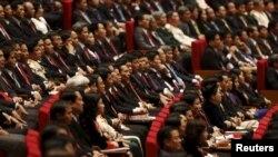 Tại một kỳ họp quốc hội Việt Nam. Hình minh họa.