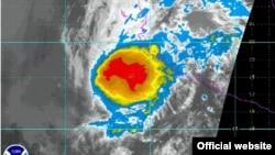 NOAA Satellite image of Hurricane Bud in the Pacific Ocean, May 25, 2012