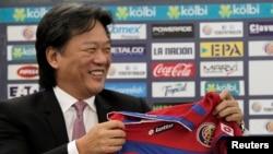 L'ancien président de la Fédération de football du Costa Rica, Eduardo Li, 3 février 2015.