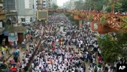 孟加拉學生示威