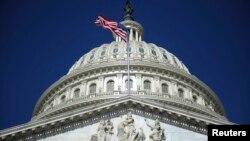 美國國會大樓的圓頂。