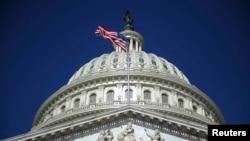 Kubah gedung Capitol di Washington, 2 Agustus 2011.