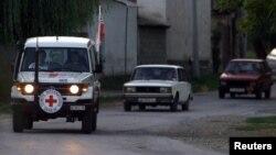 在敘利亞北部的國際紅十字會車隊