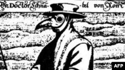 «Приход чумы». Средневековая гравюра