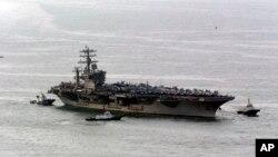 Tàu sân bay hạt nhân USS Nimitz có mặt tại Biển Đỏ.