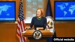 Jen Psaki, juru bicara Departemen Luar Negeri Amerika Serikat di Washington DC (Foto: dok).