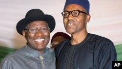 Goodluck Jonathan da Muhammadu Buhari