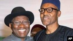 Goodluck Jonathan da Muhammadu Buhari, Maris 26, 2015.