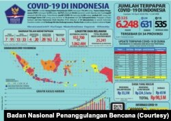 Infografis kasus COVID-19 di Indonesia. (Foto: Badan Nasional Penanggulangan Bencana)