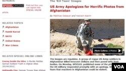 El semanario alemán Der Spiegel publicó fotos de los soldados posando junto a los cadáveres.