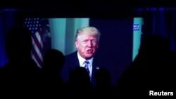 Ông Trump trong một hoạt động tôn giáo tại New York, 23 tháng Tư. (Hình: REUTERS/Brendan McDermid)
