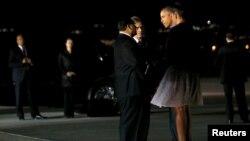美國總統奧巴馬夫婦抵達加州看望恐怖襲擊受害者家屬。