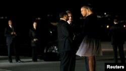 Le president Obama en Californie