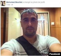 Screen grab of profile photo of Nice attacker Mohamed Bouhlel.