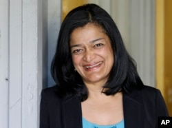 State Sen. Pramila Jayapal, D-Seattle, poses for a photo in Seattle on April 20, 2016.