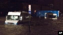 Kawasan New York dan New Jersey yang baru saja dilanda badai Sandy bersiap menghadapi badai Nor'easter, walaupun tidak sekuat badai Sandy (foto: dok).