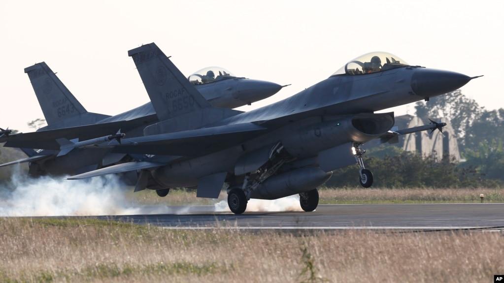 台灣空軍的F16戰機。 (資料照)