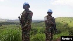 Tentara penjaga perdamaian dari Tanzania berpatroli di Goma, Republik Demokratik Kongo. (Foto: Dok)