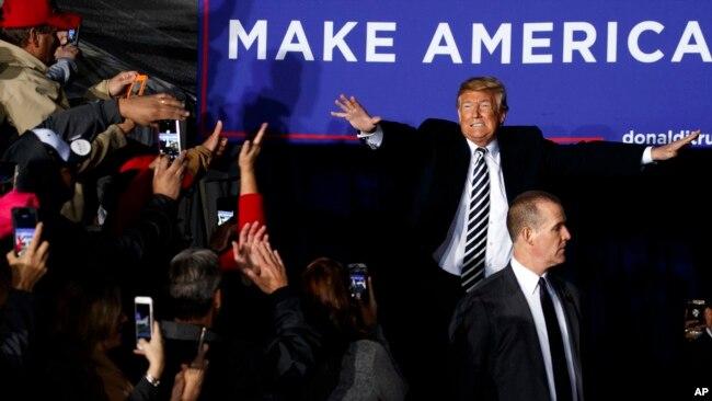 Tổng thống Trump tại cuộc mít tinh ở Sân bay Khu vực Columbia, 1/11/2018