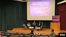 第二屆國際人類基因組編輯峰會舉辦公眾論壇。(美國之音湯惠芸拍攝)