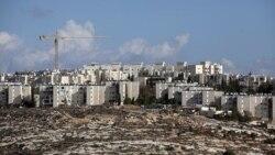 نمایی از یکی از سایت های ساختمان سازی اسرائیل در سرزمین هایی که از سال ۱۹۶۷ به کنترل اسرائیل درآمد.