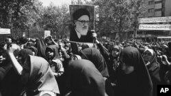 راهپیمایی در حمایت از طالقانی پس از قهر اعتراضی او - ۱۳۵۸