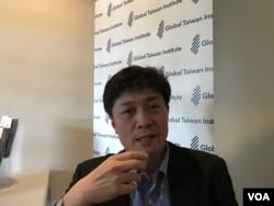 日本東京大學高等亞洲研究所教授松田康博2019年10月23日在華盛頓接受美國之音專訪(美國之音鍾辰芳拍攝)