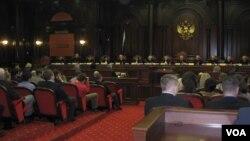 Зал заседаний Конституционного Суда