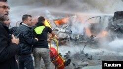 1月21日贝鲁特爆炸现场