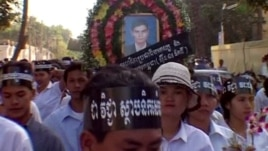 """A scene from the documentary """"Who Killed Chea Vichea?"""" Chea Vichea, a popular Cambodian union leader, was assassinated on January 22, 2004, in Phnom Penh."""
