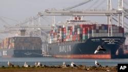 Port d'Oakland à Oakland, en Californie le 5 janvier 2010.