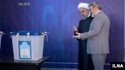 بازدید حسن روحانی از ستاد انتخابات مجلس و خبرگان - سال ۱۳۹۴